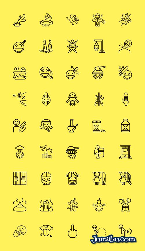 iconos-graciosos-vectorizados