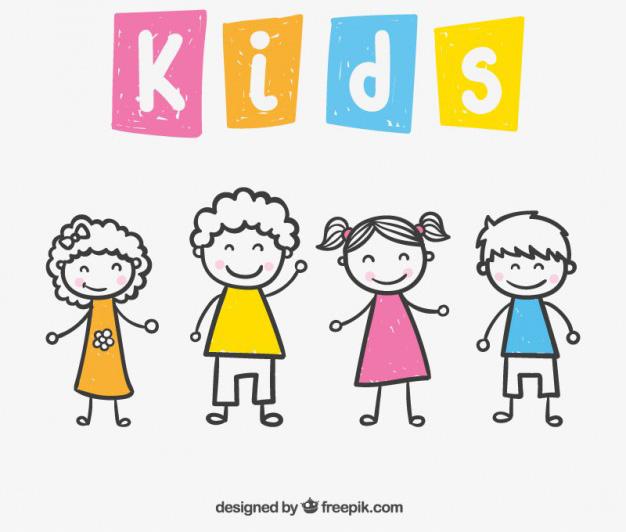 ilustraciones de ninos - Vectores de Dibujos de Niños