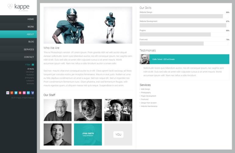 kappe-plantillas-psd-portfolio