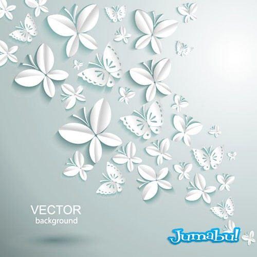 mariposas-realizados-en-papel-vectores-3d