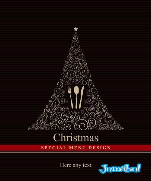 menu-navidad-vectores