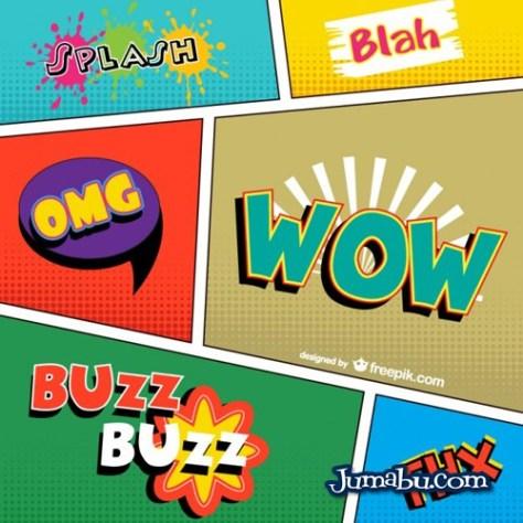 palabras-comic-vector