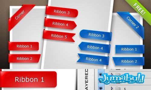 cintas-en-psd-azules-rojas