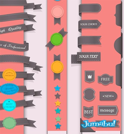 ribbons-vectorizados