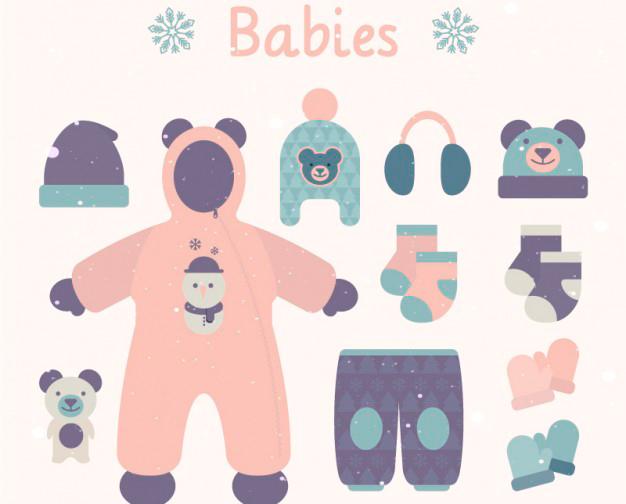 ropa-de-bebe-vectores
