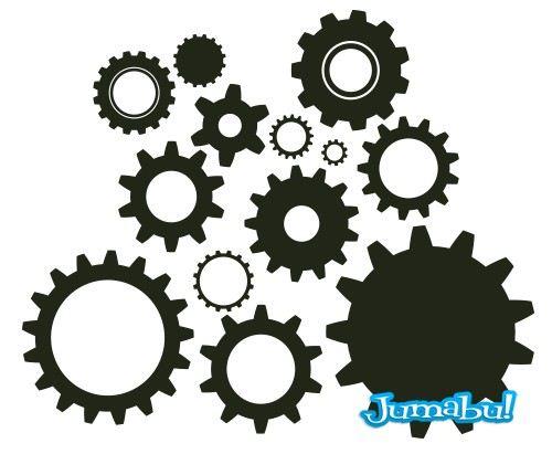 ruedas tuercas ruleman vector editar - Engranajes en Vectores