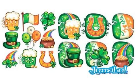 verde-vectores-fiesta-marzo-irlanda