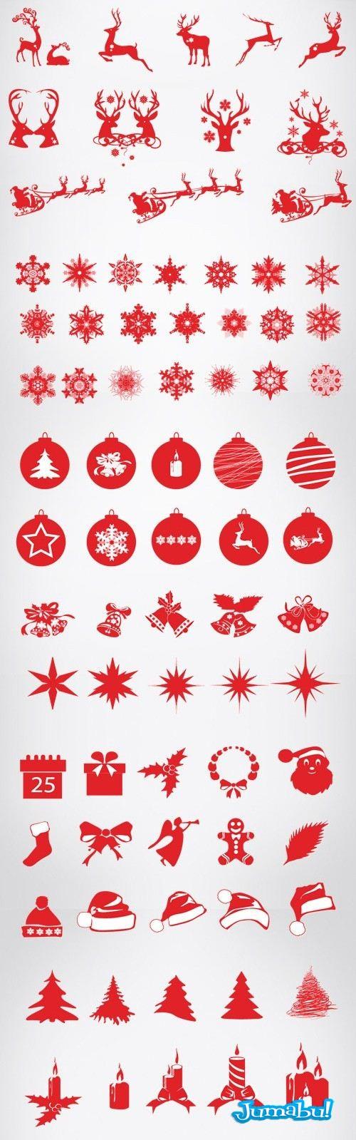 siluetas-elementos-navidad