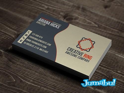 modelo formal de tarjetas personales en psd jumabu