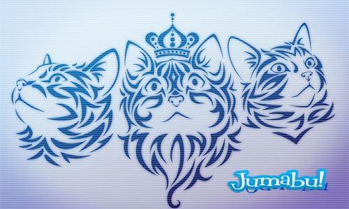 tatuaje gato tatoo - Brushes o Pinceles de Gatos para Photoshop Estilo Tatoo