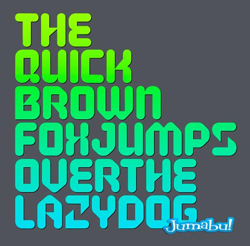 tipografias coloridas verde azul rounded condensed - Tipografía Original Condensada y Rounded