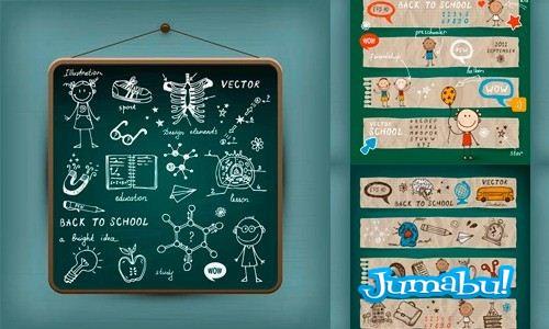 school-vector-material