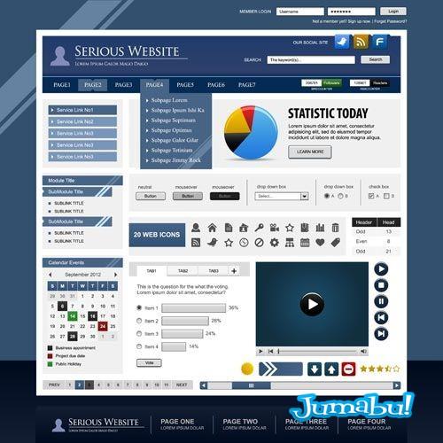 botones-graficos-tortas-iconos-login-menu-boton