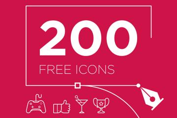 200 iconos en vectores - 200 iconos en vectores con estilo lineal