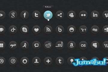 40 Dark social icons 64x64px - 40 Iconos Oscuros