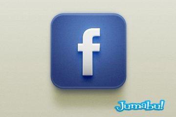 Facebook icono psd - Icono Facebook con Estilo IOS en PSD