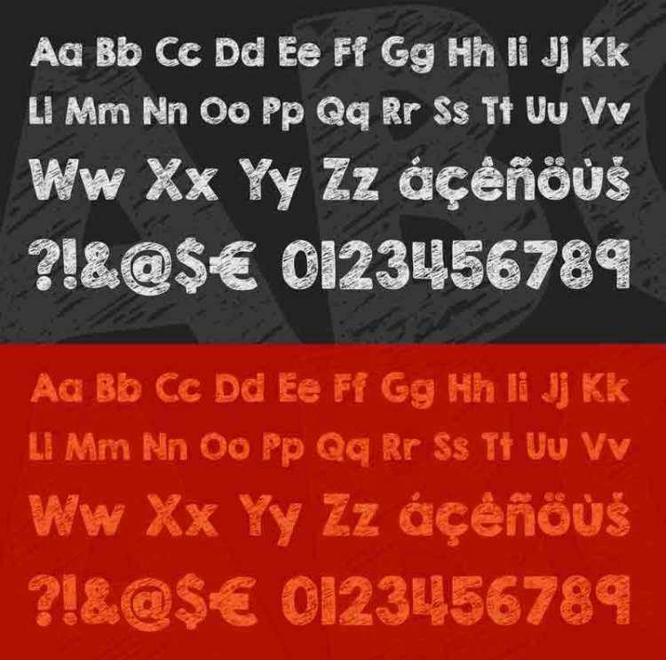 KG Broken Vessels Sketch tipografia - Tipografía gratuita para descargar KG Broken Vessels Sketch
