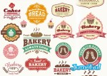 Logos de comida en vectores gratis - Logos de Panaderías con Estilo Retro en Vectores