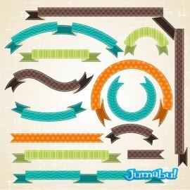 Ribbons vectorizadas con texturas en diferentes formas1 - Ribbons en Vectores para tus Diseños