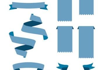 Ribbons vectorizados cintas vectoriales - Ribbons o Cintas con Efecto Plano en Vectores