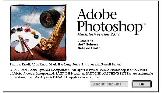 adobe photoshop pantalla 1991 - La evolución de Adobe Photoshop año tras año