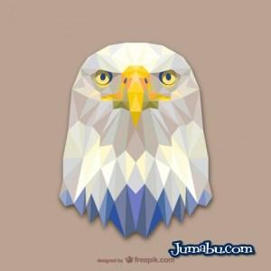aguila en vectores animales - Cabeza de Aguila Vectorizada con Textura Poligonal