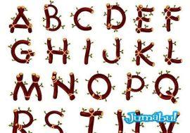 alfabeto hojas letras tipografias ramas - Letras o Alfabeto Compuesto por Ramas y Hojas en Vectores