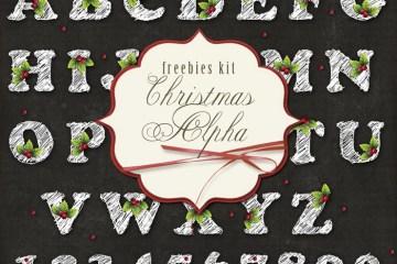 alfabeto navideno - Alfabeto Navideño en Imágenes para Decorar