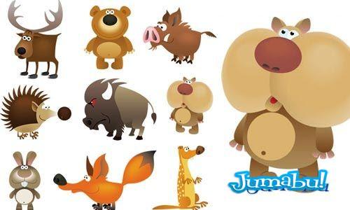 animalitos del bosque vectorizados - Animalitos del Bosque en Vectores