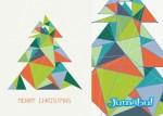 arbol navidad vectorizado triangular - Árbol de Navidad Hecho con Triángulos y Transparencias