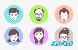 avatar faces vector 1 - Caras de Personas en Vectores