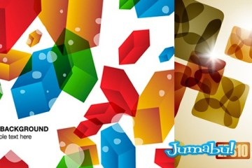 backgrounds fondos vectores coloridos - Fondos en Vectores con Figuras Geométricas en 3D