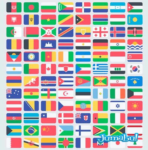 banderas-flat-style