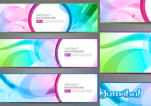 banners vectorizados - Banners Coloridos con Efectos Transparentes en Vectores