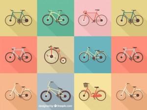 bicicletas en vectores - Dibujos de Bicicletas en Vectores para Descargar