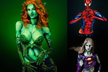 body painting superheroes - Excelente Body Painting de SuperHéroes