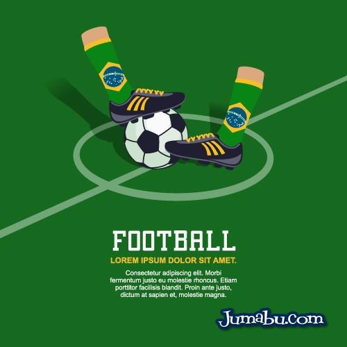 botines medias vectores brasil futbol - Medias y Botines Vectoriales Brasil 2014
