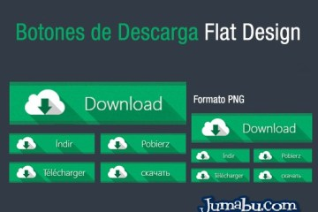 botones png flat design - Botones de Descargas con Estilo Flat en PNG