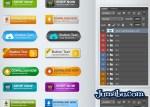 botones psd - Botones de Descarga en PSD Excelente Calidad