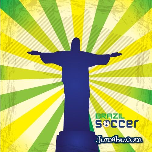 brazil-futbol-cristo-vectores