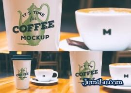 cafe mockup - Mock Up de Vaso de Café Grande en PSD