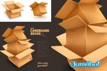 cajas carton vectorizadas2 - Cajas de Cartón Apiladas en Vectores