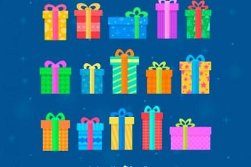 cajas de regalo navidad - Dibujos de Regalos en Vectores para Descargar