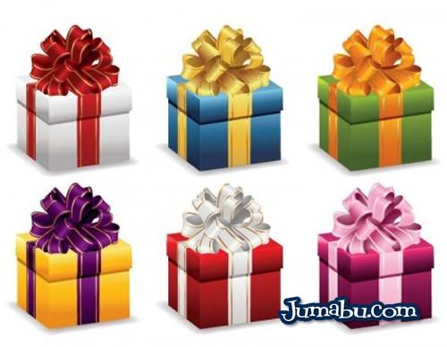 cajas de regalos en vectores - Cajas de Regalos Vectorizadas