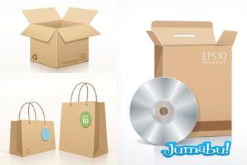 cajas mockup carton - Cajas de Cartón en Vectores Mock Up