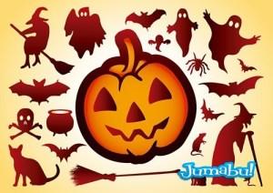 calabaza halloween vectores - Halloween Siluetas en Vectores para Descargar
