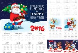 calendario 2016 imprimir navidad - Calendarios Navideños 2016 para Imprimir