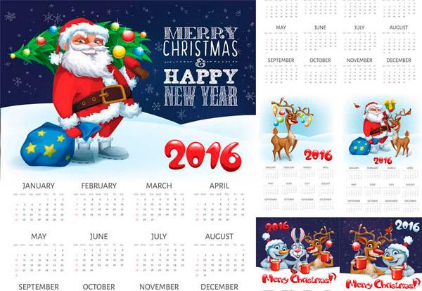 calendario-2016-imprimir-navidad