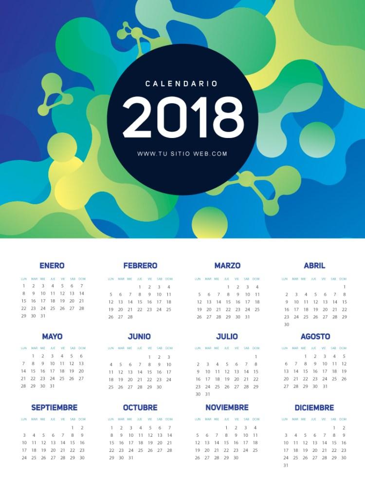 calendario 2018 espanol gratis 1 767x1024 - Calendario 2018 gratis, en español y listo para imprimir