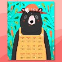 Imprime un Calendario 2020 con dibujos infantiles